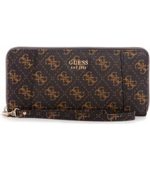 guess naya large zip around wallet