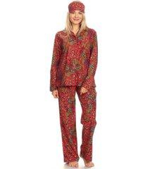 white mark 3-piece cozy pajama set, online only