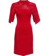abito in maglia a collo alto (rosso) - bodyflirt boutique