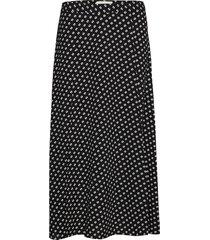 slit front skirt knälång kjol svart michael kors