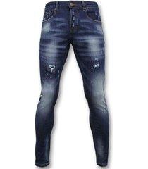 skinny jeans true rise broek jeans verf d