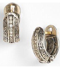 women's konstantino 'hermione' diamond small huggie hoop earrings