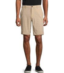 hickey freeman men's performance flat-front shorts - sand - size 35
