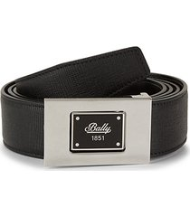 box-out buckle leather belt