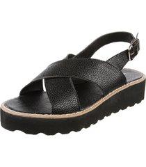 sandalia negra kataleya