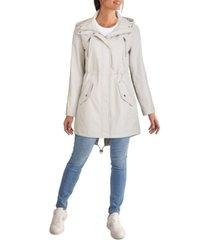 kenneth cole women's hooded anorak rain coat