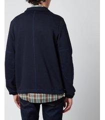 ps paul smith men's regular fit half zip sweatshirt - dark navy - xxl