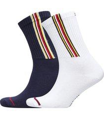 th jeans sock 2p logo stripe underwear socks regular socks vit tommy hilfiger