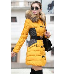 2017new fashion clothing fur hooded long style warm down coat winter parkas coat