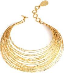 natori goldplatedss spiral necklace, women's