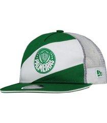 boné new era palmeiras 950 branco e verde