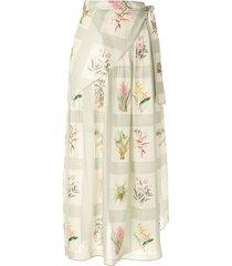 adriana degreas printed beach skirt - multicolour