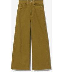 proenza schouler white label wide leg crop jeans fatigue/brown 30