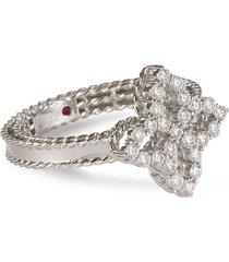 diamond princess' diamond 18k white gold ring