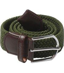 cinturón verde trenzado jon sonen