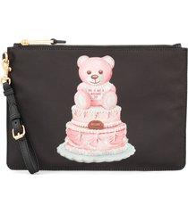 moschino teddy bear cake clutch