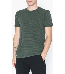 solid fablin ss stripe t-shirts & linnen forest