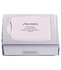 lenços de limpeza facial shiseido - refreshing cleansing sheets 30 un