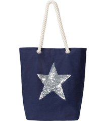 borsa shopper con stella (blu) - bpc bonprix collection