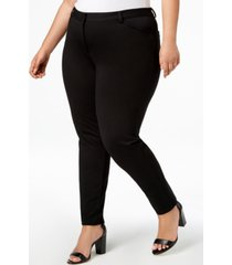 calvin klein plus size ponte skinny compression pants