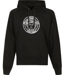 versace medusa head embroidered hoodie