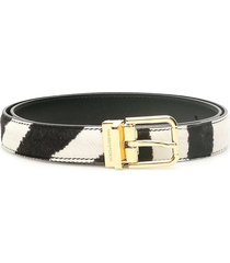 dolce & gabbana zebra print pony belt