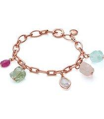 rose gold caroline issa gemstone bracelet mix