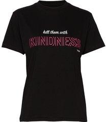 svea printed love tee t-shirts & tops short-sleeved svart svea