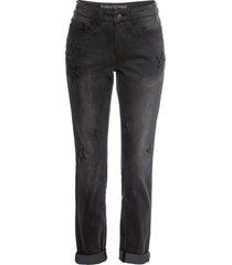 jeans boyfriend con stelle ricamate (nero) - rainbow