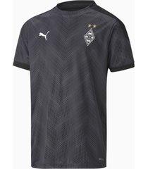 borussia mönchengladbach stadium shirt, wit/zwart/grijs, maat 116   puma