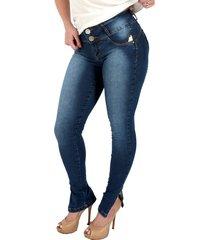 calça jeans zigma levanta bumbum com bojo azul