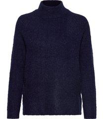 fxtiwarm 2 pullover stickad tröja blå fransa