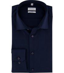 overhemd donkerblauw seidensticker non iron