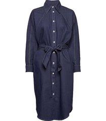 alina dress jurk knielengte blauw blanche