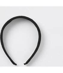 river island womens black rhinestone alice headband