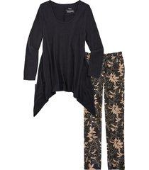 pigiama in cotone biologico  con leggings (nero) - bpc bonprix collection