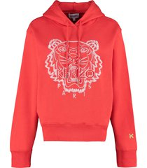 kenzo embroidered cotton hoodie