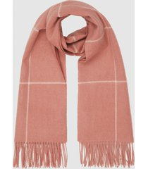reiss polly - wool cashmere blend oversized scarf in pink, womens