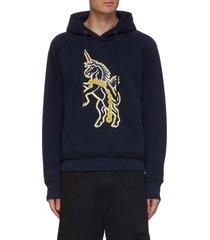 unicorn patch hoodie