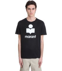 isabel marant karman t-shirt in black linen