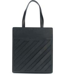 off-white diagonal formal tote bag - black