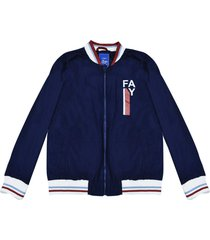fay blue lightweight jacket with white details