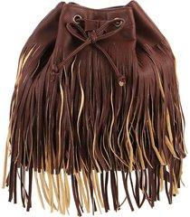 mochila bolso marrón stefani kiki