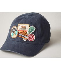 sundance catalog men's park patch baseball cap in khaki