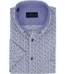 korte mouwen overhemd portofino regular fit