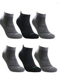 kit 6 pares de meia masculina cano curto