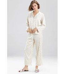 natori decadence pajamas, women's, beige, size m natori