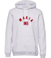 brand hooded sweatshirt hoodie grå makia