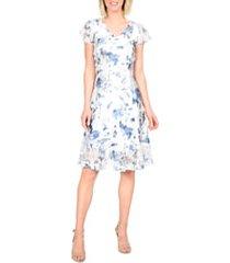 women's komarov painted azalea a-line dress