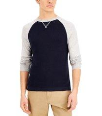 naadam men's multi-stitch raglan pullover sweater